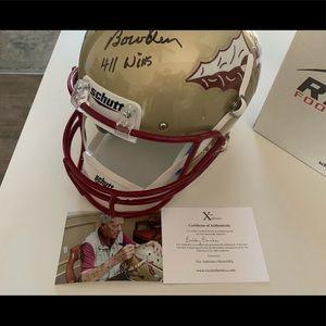 FSU Football Helmet/Signed by Bobby Bowden